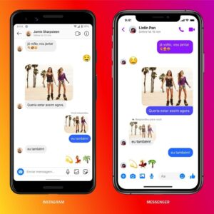 Instagram e Facebook integram mensagens no Brasil
