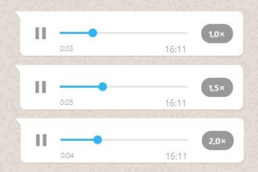WhatsApp libera opção de acelerar áudio